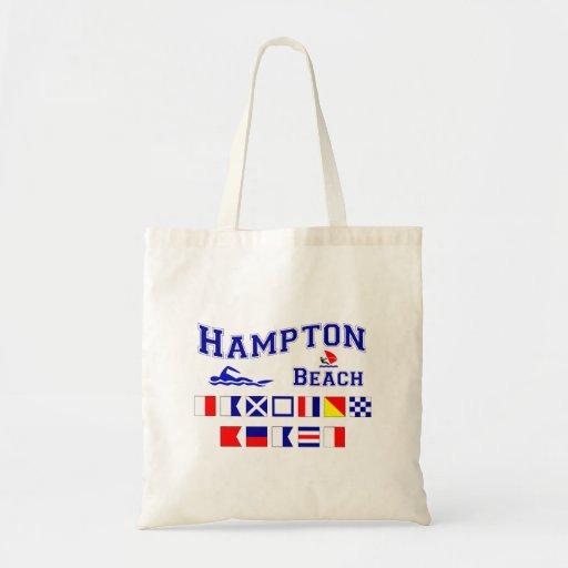 Hampton Beach, NH Tote Bags