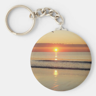 Hampton Beach Sunrise Keychain