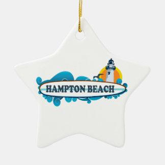 Hampton Beach Surf Design.. Ceramic Ornament