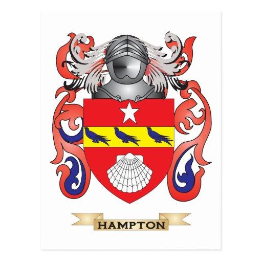 Hampton Coat of Arms (Family Crest) Postcards