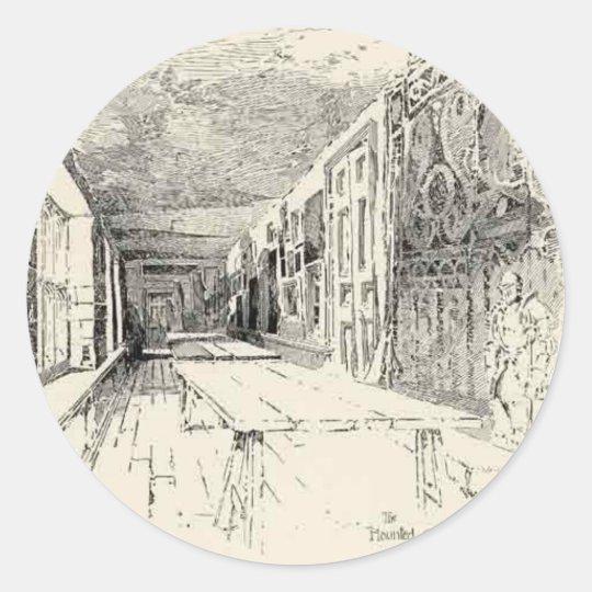 Hampton Court Classic Round Sticker