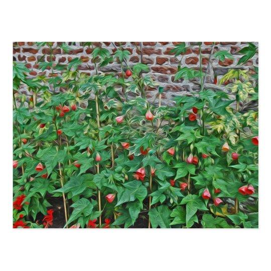 Hampton Court Garden, red bell flowers Postcard