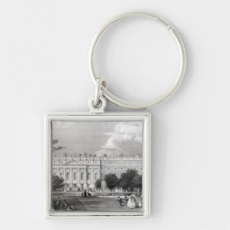 Hampton Court Palace Silver-Colored Square Keychain
