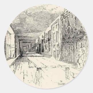 Hampton Court Pegatina Redonda