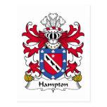 Hampton Family Crest Post Cards