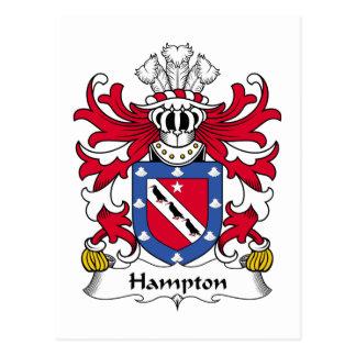 Hampton Family Crest Postcard