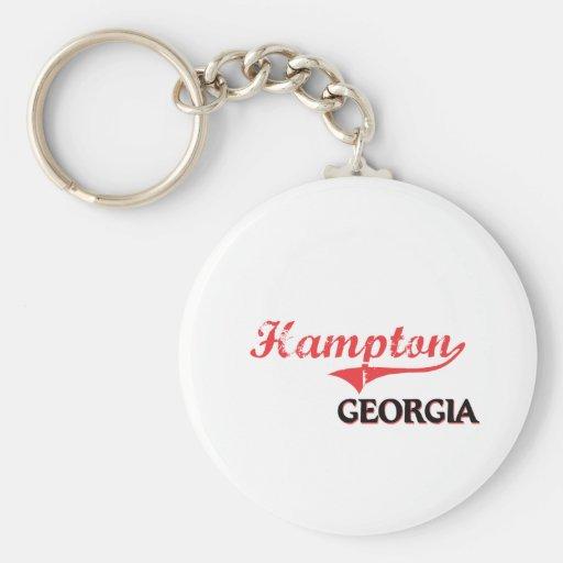 Hampton Georgia City Classic Key Chain