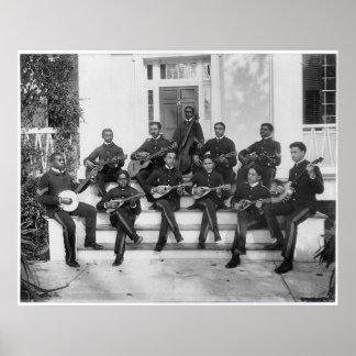 Hampton Institute Musicians, 1898 Poster