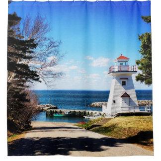 Hampton Lighthouse Bridgetown Nova Scotia Canada Shower Curtain