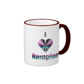 Hampton -- Púrpura y turquesa Tazas De Café