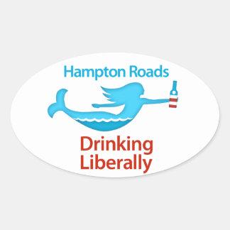 Hampton Roads Drinking Liberally Oval Sticker
