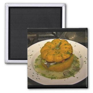 Hamptons Pumpkin Dish 2 Inch Square Magnet