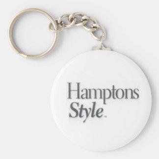 Hamptons Style White Key Chain