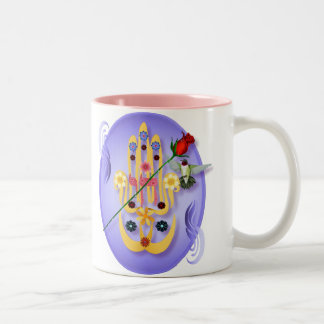Hamsa and Flowers Mugs