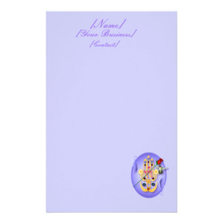Hamsa and Flowers Stationery