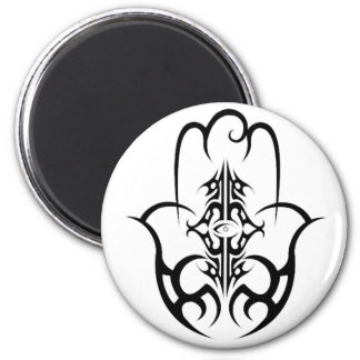 HAMSA - black and white Fridge Magnet