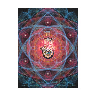 Hamsa- Chai with the Home blessing Canvas Print