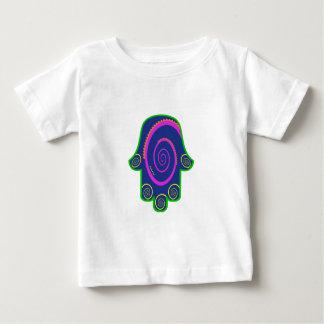 Hamsa Colorful Nail Swirls Zazzle.png Baby T-Shirt