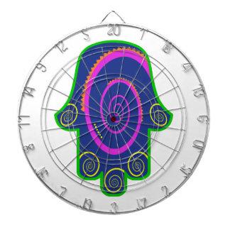 Hamsa Colorful Nail Swirls Zazzle.png Dartboards