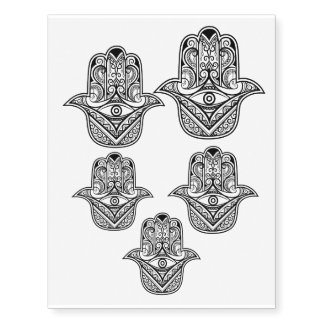 Hamsa design temporary tattoo sheet