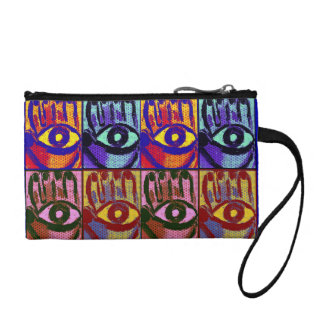 Hamsa evil eye  coin purse by Katie Pfeiffer