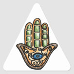 Hamsa Eye Triangle Stickers