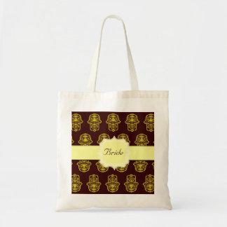 Hamsa floral (amarillo) (boda)