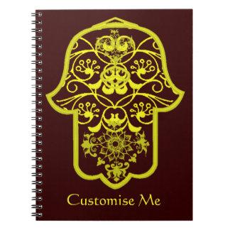 Hamsa floral (amarillo) cuaderno