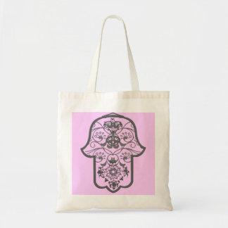 Hamsa floral bolsa tela barata