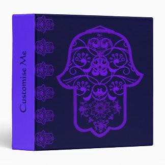 Hamsa floral púrpura