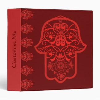 Hamsa floral rojo