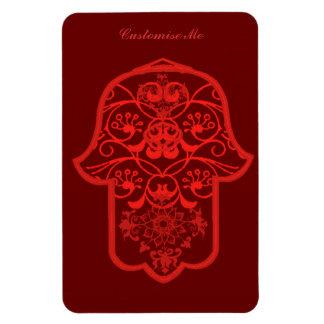Hamsa floral (rojo) iman de vinilo