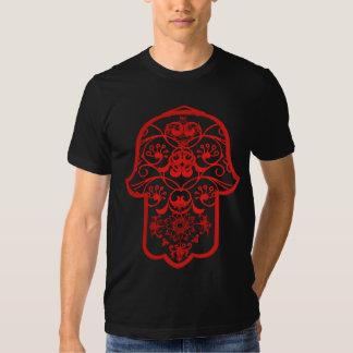 Hamsa floral (rojo) playera