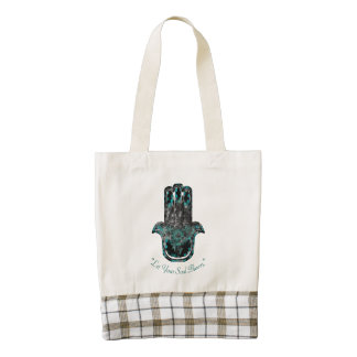 Hamsa Flower Life Zazzle HEART Tote Bag