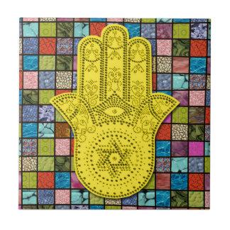 Hamsa Gimel Ceramic Tile