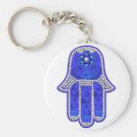 Hamsa good fortune keychain