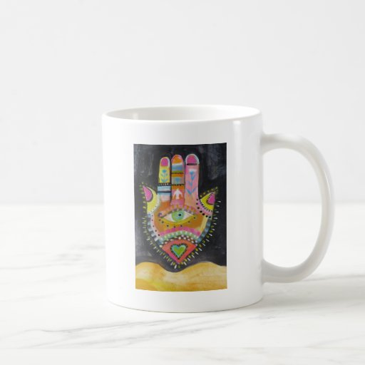 Hamsa hand ART Classic White Coffee Mug