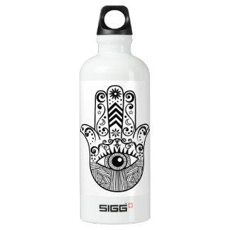 Hamsa Hand Black and White Water Bottle