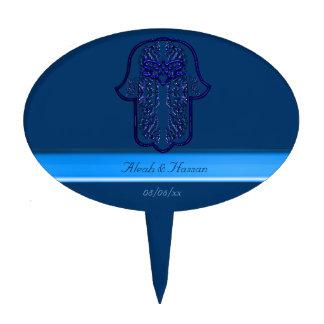 Hamsa Hand feat: Heart (Blue) Cake Topper