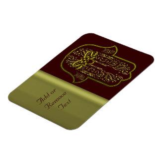 Hamsa Hand feat: Heart (Golden) Magnet