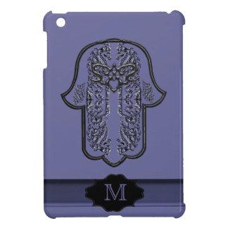 Hamsa Hand feat: Heart (Monogram) (Silver Effect) iPad Mini Cases