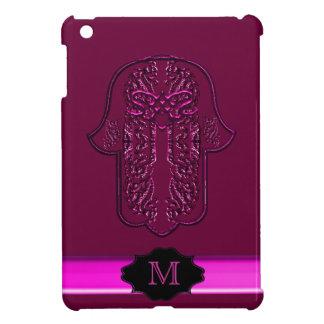 Hamsa Hand feat: Heart (Pink) (Monogram) iPad Mini Case