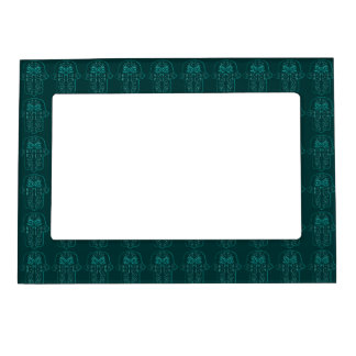 Hamsa Hand feat: Heart (Teal) Magnetic Photo Frame
