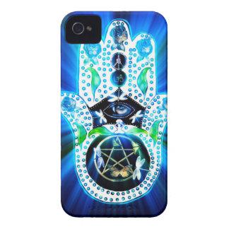 Hamsa Hand Indigo Energy iPhone 4 Cover