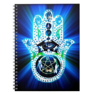 Hamsa Hand Indigo Energy Notebook