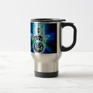 Hamsa Hand Indigo Energy Travel Mug