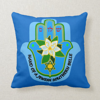 Hamsa Hand of a Jewish Southern Belle (1-sided) Throw Pillow