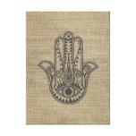 HAMSA Hand of Fatima symbol amulet Canvas Print