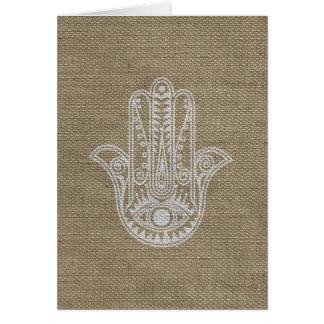 HAMSA Hand of Fatima symbol amulet Greeting Cards