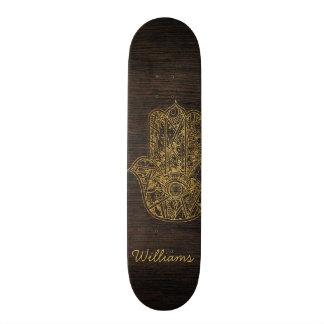 HAMSA Hand of Fatima symbol amulet design Skateboard Deck